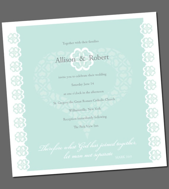 Items similar to Wedding invitation with Bible verse Fresh clean – Christian Wedding Invitation Bible Verses