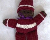 Waldorf knitted gnome doll
