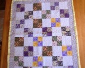 Crib quilt, hand pieced, hand quilted