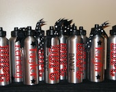 Personalized Water Bottles w/Sip Top w/ Zebra or Polka Dot Cheer, Dance, Softball