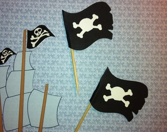 Pirate's Flag Cupcake Topper