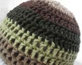Organic Baby Hat (6-12months) - Vegan Yarn - Organic Cotton Yarn Hat - Vegan Baby Clothes - Striped Baby Hat - Eco Baby Accessories