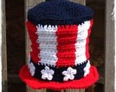 Uncle Sam Patriotic Crochet Baby Hat - Photography Prop