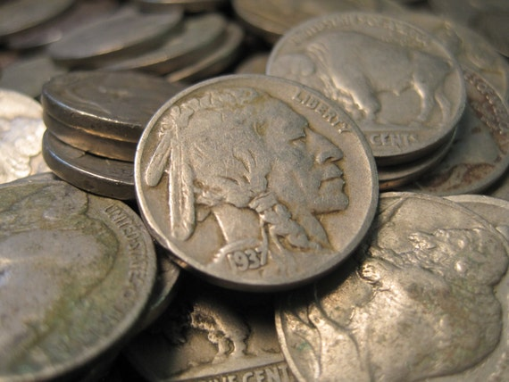 1930's Buffalo Nickels - Vintage very nice. Perfect for Collecting and Project Making
