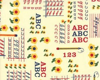 School Days - ABC 123 in Manilla - By American Jane for Moda - One Yard - 21611 18
