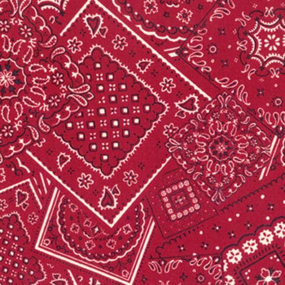 Bunk House Bandana - Turkey Red - Moda - one yard - 15490 22