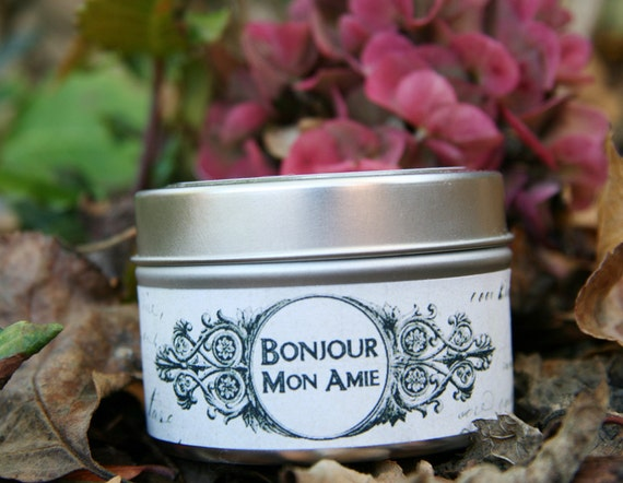 Black Raspberry Vanilla, All Natural Soy Candle, 4 oz travel tin, Shabby Chic...French Country...Paris