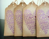 Valentine's Day // Love // Amour // Je t'aime // Ich Liebe Dich // Gift Tags // Set of 4