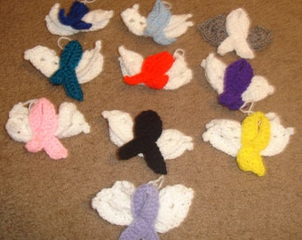 Faceless angel awareness ornaments - PATTERN ONLY