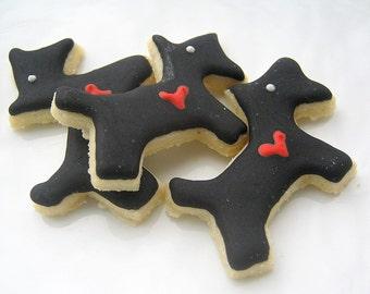 Scottie Dog Cookies Red Heart Mini Sugar Cookies All Natural