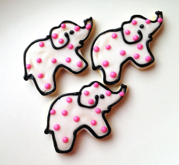 Elephant Sugar Cookie Circus Theme Iced by SugarMeDesserterie