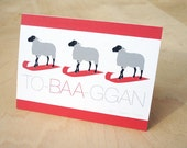 TO-BAA-GGAN Sheep Christmas Card