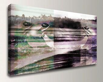 "Mixed Media Art - Panorama Canvas Print - Digital Mixed Media Photo Collage - Modern Wall Art  - ""Separation"""