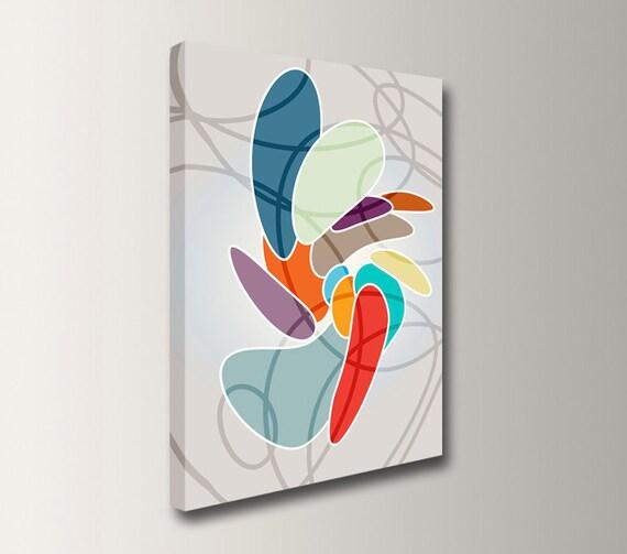 "Modern Digital Art - Canvas Print - Colorful Wall Art - Unique Canvas Wall Decor - ""Expansion"""
