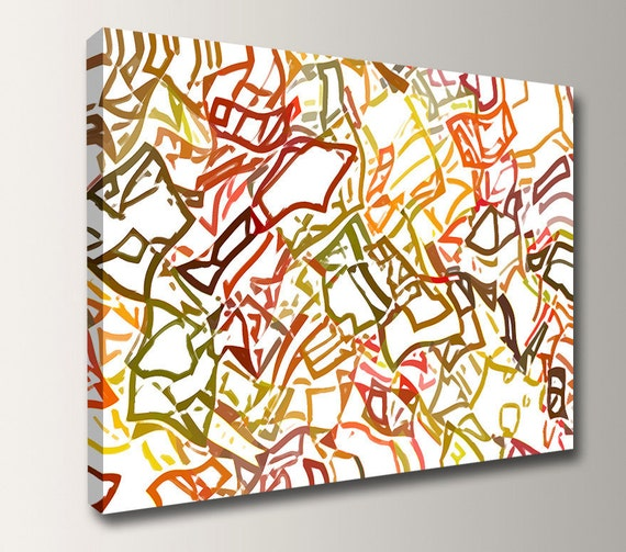 "Geometric Art Print - Canvas Prints - Digital Art - Modern Wall Decor - ""Scatter"""