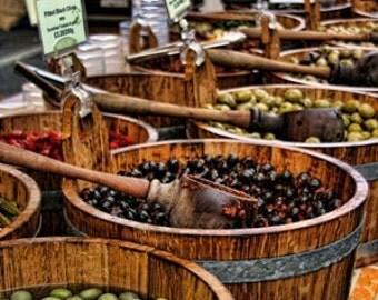 Print - Olives at Borough Market Photograph
