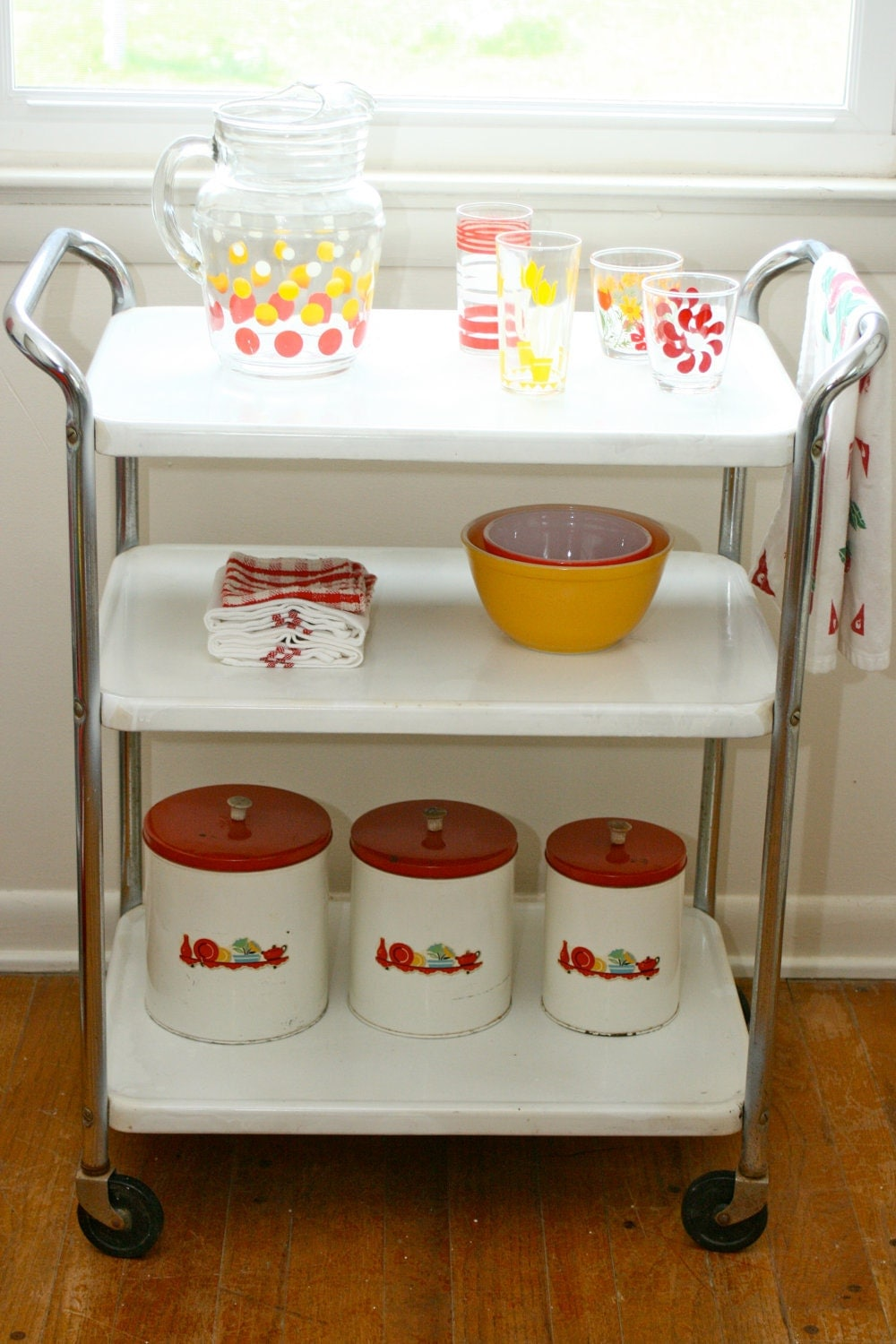 Vintage Cosco Kitchen Utility Serving Cart