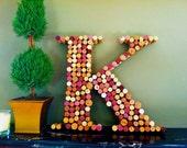 "Monogram ""K"" Wine Cork Wall Hanging"