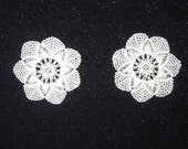 Two Small Hand Crocheted Doilies/Coasters.Exellent quality.