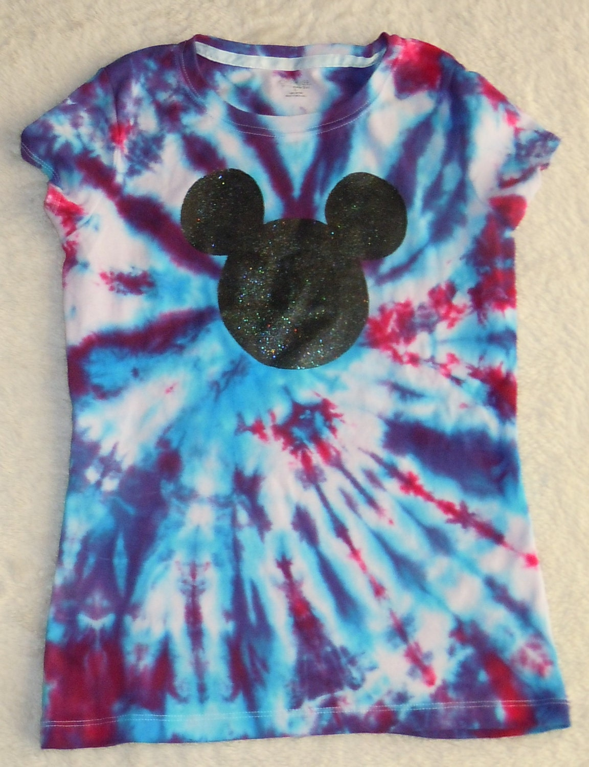 Custom tie dye disney shirt mickey mouse by 5lilmonsters for Customized tie dye shirts