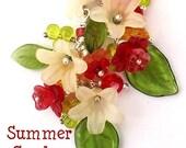Cluster Flower Earrings -SUMMER GARDEN- .925 Sterling Silver