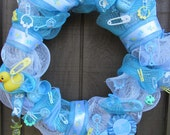 Baby Shower Wreath- Its a Boy Wreath-Baby Wreath