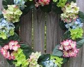Hydrangea Wreath-Summer Wreath