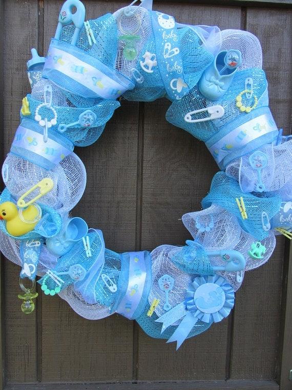 baby shower wreath its a boy wreath baby wreath