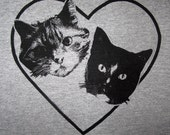 ON SALE 15 Percent Off - I Love My Cats Gray Tank Top - Small