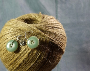 Vintage Button Bicycle Pin Brooch (mint green)