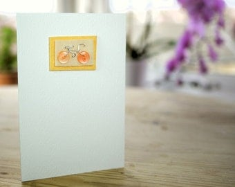 Vintage Button Bicycle Greeting Card (various colour options)