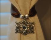 Chocolate Crystal Curtain Tie Backs