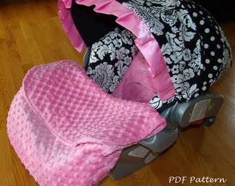 Car Seat Foot Muff Blanket-PDF Pattern-Ebook Pattern-Make your own - Instant Download