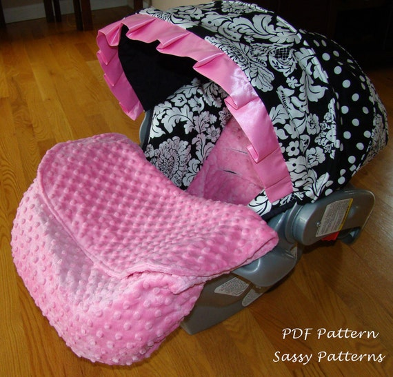 Car Seat Foot Muff Blanket Pdf Pattern Ebook Pattern Make Your