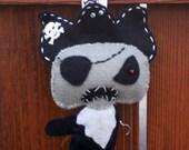 Zombie pirate felt Halloween ornament decoration