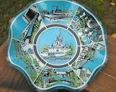Walt Disney World Glass Art Dish