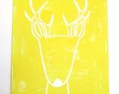 "No. 0012 - Modern Kids and Nursery Art Original Painting - 16"" x 20"" on regular 3/4"" depth canvas - The Deer"