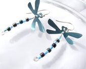 Dragonfly Earrings Sky Blue from Recycled Soda Cans
