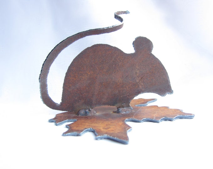Garden Mouse Rusty Recycled Metal Garden Art