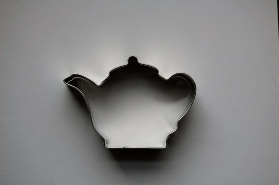 items similar to tea pot cookie cutter on etsy