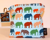 Wet Bag or Eco-Bag Small - Waterproof - Elephants