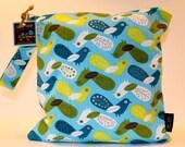 Wet Bag or Eco-Bag with Snap Handle - Waterproof - Critter Community Birds Bermuda