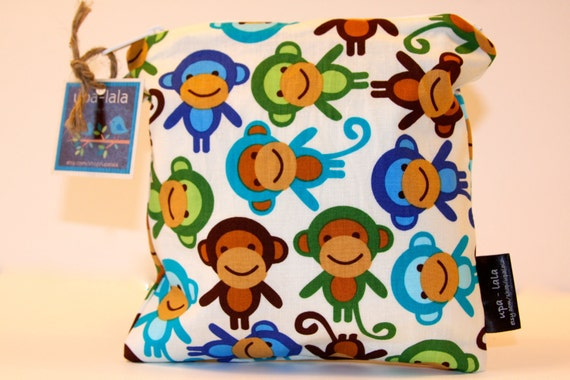Wet Bag or Eco-Bag Small - Waterproof - Urban Zoologie - Monkeys Royal