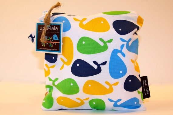 Wet Bag or Eco-Bag Small - Waterproof - Urban Zoologie - Whale White
