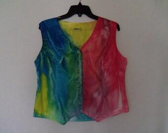 Girls Vest, size extra large, OOAK