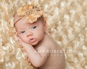 Golden Tan Butterfly headband, baby headbands, adult headbands, newborn headband, photography prop