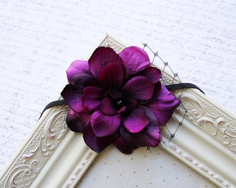 Purple flower headband, baby headbands, newborn headbands, baby flower headbands, photography prop