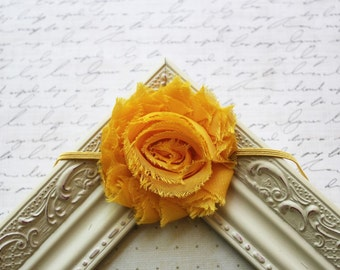 Yellow Chiffon flower headband, baby headbands, flower headbands, newborn headbands, summer headbands, photography prop