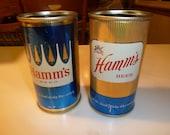 Vintage Hamm's Beer Cans Set of 2