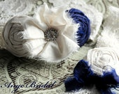 ON SALE/Set) Indigo Blue garter set